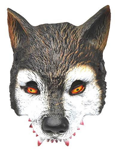 VENTURA TRADING AM7 Lobo Mascarilla Hombre-Lobo Novedad Disfraz Partido Mascarilla mscara de Perro Mscara de Hombre Lobo