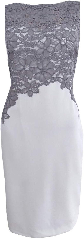 Lauren Ralph Lauren Womens Crepe Lace Trim Wear to Work Dress