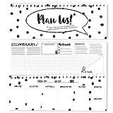 bigdaygraphix 52 Wochen Tischkalender/Tischplaner Organizer Plan los! Wochenkalender ohne festes Datum im Querformat 10,5 x 29,7 cm schwarz-weiß (Schwarz-Weiß, 10,5 x 29,7 cm)