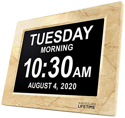 Best Clocks with Day and Date for the Elderly Reviews - American Lifetime Newest Version Day Clock Extra Large Impaired Vision Digital Clock