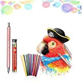 3.0 mm Automatic Mechanical Pencil with 15 Pcs Colored Refills, Graphite Pencils Built-in Sharpener Colorful Barrel Automatic Pencil for Draft Drawing, Art Sketching,Writing, Crafting, Graffiti