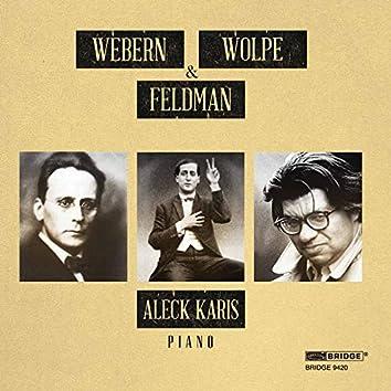 Feldman, Webern & Wolpe: Piano Works