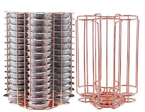 Ever Rich ® Tassimo Kapselhalter | T-Disc Kaffeekapseln | Bosch Tassimo Ständer & Schublade | Anti-Vibrations-Design (R/Gold 60)
