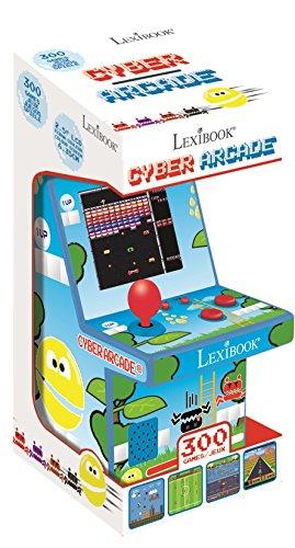 Lexibook JL2950 Consola Cyber Arcade, 300 juegos