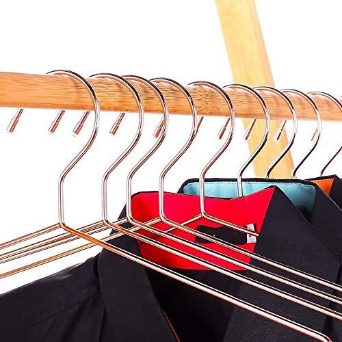 yitao Grucce 10pcs Appendiabiti per Camicie in Metallo Rame con Scanalatura, Appendiabiti Resistente E Resistente, Appendiabiti