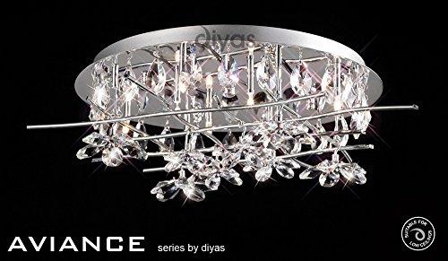 Aviance Ceiling 8 - Lámpara de techo (cromo y cristal)