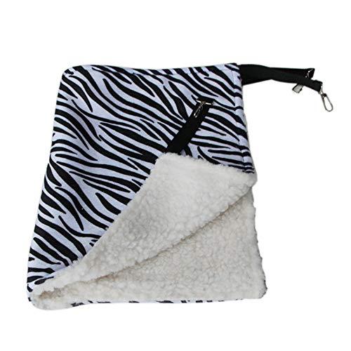 laonBonnie Warme hängende Katzenbett-Matte Weiche Katzen-Hängematte Winter-Hängematten-Haustier-Kätzchen-Käfig-Bett-Abdeckungs-Kissen-Luft-Bett-Haustier-Produkte-Schwarzes u. Weißes L Zebra-Muster