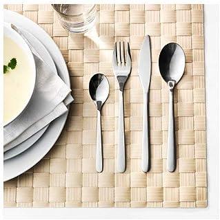 Ikea Cubertería, Aluminio, Plata, 22x14x4 cm, 24 Unidades