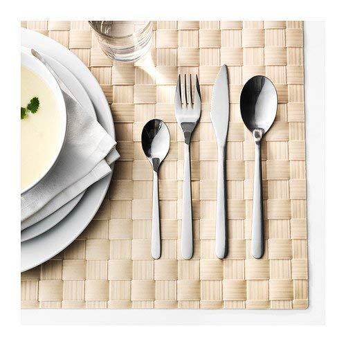 Ikea FÖRNUFT Besteck 24-TLG, Edelstahl, Silver, 22 x 14 x 4 cm, Banane, Einheiten