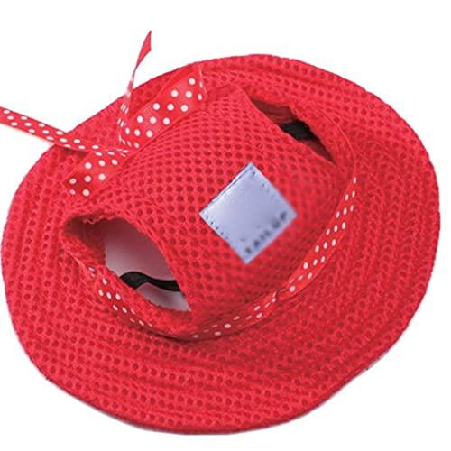 JYDQM Pet Perro GATS Cable TRAVEZABLE Sombrero Sombrero Soja DE Mesh Malla de la Lona para pequeños Perros medianos Gatos Caps Productos para Mascotas (Color : Style Two, Size : Medium)