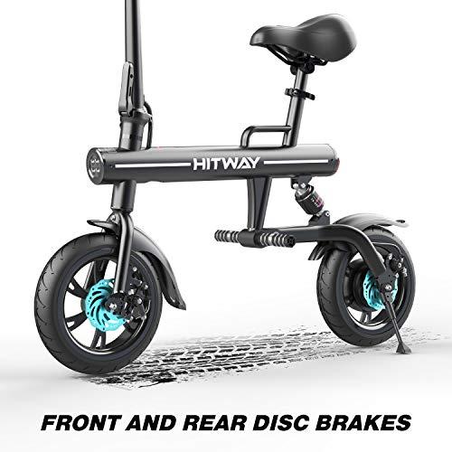 HITWAY Electric Bike Foldable E-bike URBANBIKER made of Aviation Aluminum Foldable, 7.5 Ah, 250 W Motor, Range up to 45 km BK1-HW