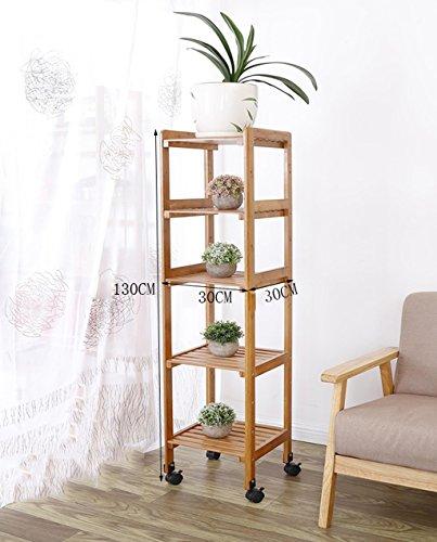 Porte Plante Balcon Banc en bois massif Salon Salon Pots à fleurs multi-étages Pots en bambou Porte-pot étagère en bois à l'intérieur Étagères à fleurs ( taille : A-30*130cm )
