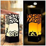 Telepathy Friendship Lamps - Long Distance Wifi Touch Lamps by Zoci Voci - Under One Tree Design   Unique Handmade Gifts 200+ colors (Set of 2)