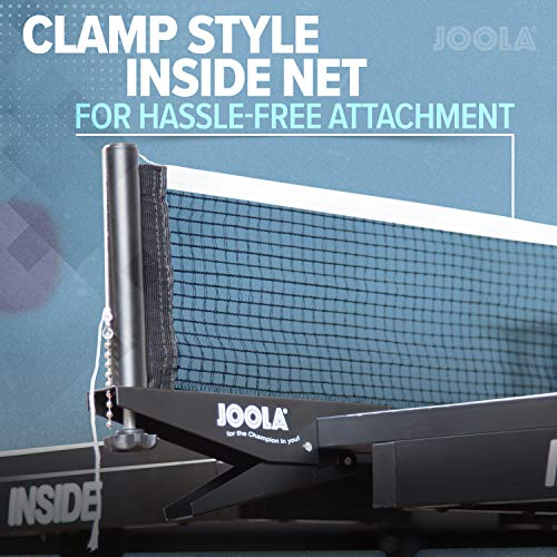 JOOLA Inside 25mm Table Tennis Table with Net Set - Features 10-Min Assembly, Playback Mode, Compact Storage