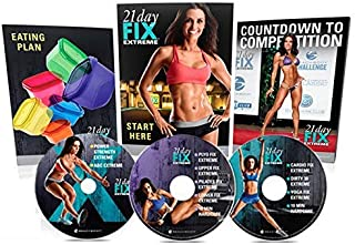 21Day Fix Extreme Workout,On 3 DVDs Fitness Strengthen The Whole Body