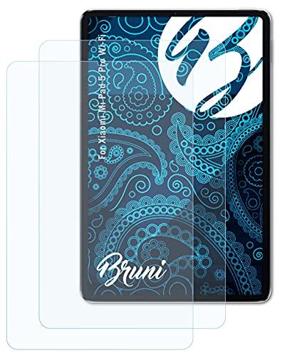 Bruni Schutzfolie kompatibel mit Xiaomi Mi Pad 5 Pro Wi-Fi Folie, glasklare Bildschirmschutzfolie (2X)