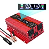 IpowerBingo 700W Car Power Inverter Dual AC Outlets and Dual USB Charging Ports DC 12V to 110V AC Car Converter with Digital...