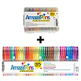 AmazaPens Glitter Gel Pens Home & Travel Bundle of 40 Full Size Glitter Pens and 20 Mini Pens in Handy Small Size