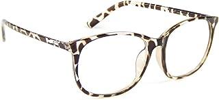 Cyxus Blue Light Filter Computer Glasses for Blocking UV Headache [Anti Eye Fatigue] Transparent Lens Unisex (Leopard Print)