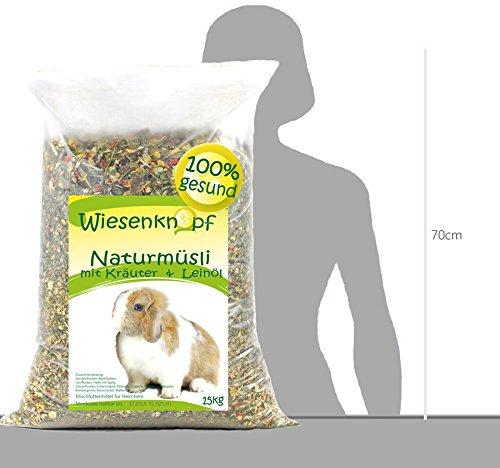 15kg Kaninchenfutter Wiesenknopf Strukturfutter mit Kräuter - 4