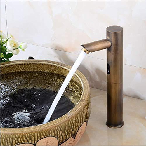 DOMOUDOKRemolques de lavamanos de baño Grifos de lavamanos Infrarrojo Infrarrojo Inteligente Sensor Faucet Automático Solo Frío Caliente y Frío Debajo del Mostrador de Cuenca Grifo del Sensor