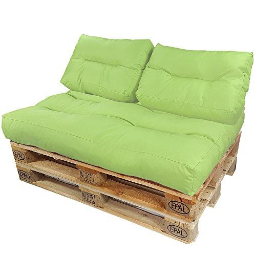 DILUMA Coussins pour Canape Euro Palette Lounge - Créez Un élégant Sofa en Palette résistante aux éclaboussures (Pas Un Ensemble!), Couleur:Citron, Variable:2 Coussins de Dossier 60 x 40 cm