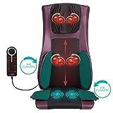 Naipo Masseur du Dos Siège de Massage Fauteuil Massant Shiatsu avec Chaleur à Malaxage Profonde Roulement Compression de l'air Vibrations pour Entier Dos et Cou