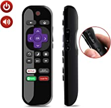 Gvirtue New NS-RCRUS-17 Spotify Replacement Remote Fit for Insignia Roku TV with Spotify Cineplex Netflix Google Play Key NS-24ER310NA17 NS-32DR420NA16B NS-32DR310NA17 NS-48DR510NA17 NS-49DR420NA18
