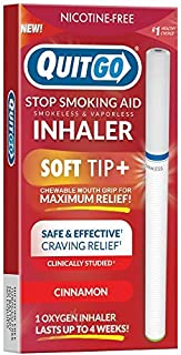 Quit Smoking Aid Oxygen Inhaler + Soft Tip Chewable Filter to Help Curb Cravings, Nicotine Free Non-Addictive Stop Smoking Support & Oral Fixation Relief (1 Pack, Cinnamon) (B07R7NDQTH) | Amazon price tracker / tracking, Amazon price history charts, Amazon price watches, Amazon price drop alerts