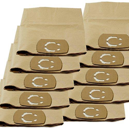 DeClean Staubsaugerbeutel Staubbeutel für Staubsauger Nass-Trockensauger 10 Stück Ersatz für Masko 1800 W 30 L
