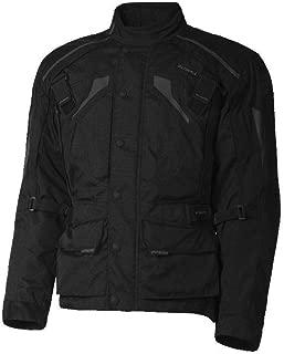 Olympia Richmond Mens Waterproof Exteriors and Rain Gear On-Road Racing Motorcycle Jacket Black 2X-Large