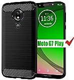 Moto G7 Play Case, Moto G7 Play Phone Case HNHYGETE Soft Slim Shockproof Anti-Fingerprint Full Protective Phone Cases for Motorola Moto G7 Play (Black) 5.7'