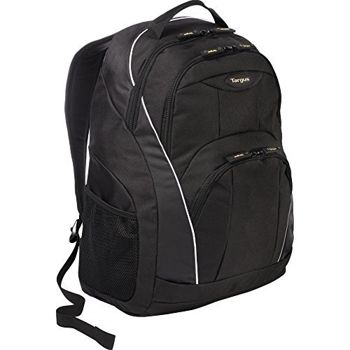 Targus Motor Backpack Ultimate Laptop Protection for Business Professional & College Student Travel with Durable Water-Resistant Material, Back Padding Support, Fits 16-Inch Laptop, Black (TSB194US)