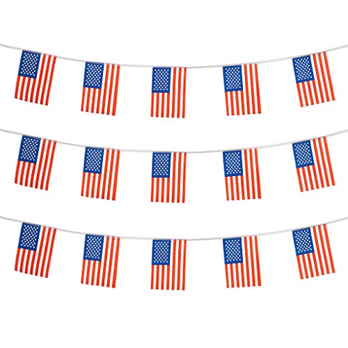 USA Flags American Small String Mini Flag Pennant Banner Decorations