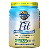 Garden of Life Raw Organic Fit Powder, Original - High Protein for Weight Loss (28g) plus Fiber, Probiotics & Svetol, Organic & Non-GMO Vegan Nutritional Shake, 10 Servings