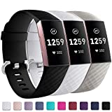 Zekapu pour Fitbit Charge 3 Bracelet, Classique Réglable Bracelet De Rechange avec Classique en...
