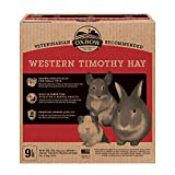 Oxbow Animal Health Western Timothy Hay - All Natural Hay for Rabbits, Guinea Pigs, Chinchillas, Hamsters & Gerbils - 9 lb.