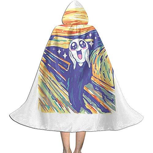 Niet van toepassing Capuchon Cape, Volwassen Robe Mantel, Unisex Cosplay Rol Kostuums, Kawaii Scream Witch Wizard Mantel, Halloween Party Decoratie Bovenkleding, Vampier Mantel