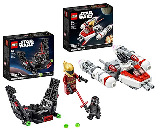Legoo Lego Star Wars-Set: 75263 - Widerstands Y-Wing Microfighter + 75264 - Kylo Rens Shuttle Microfighter, ab 6 Jahren