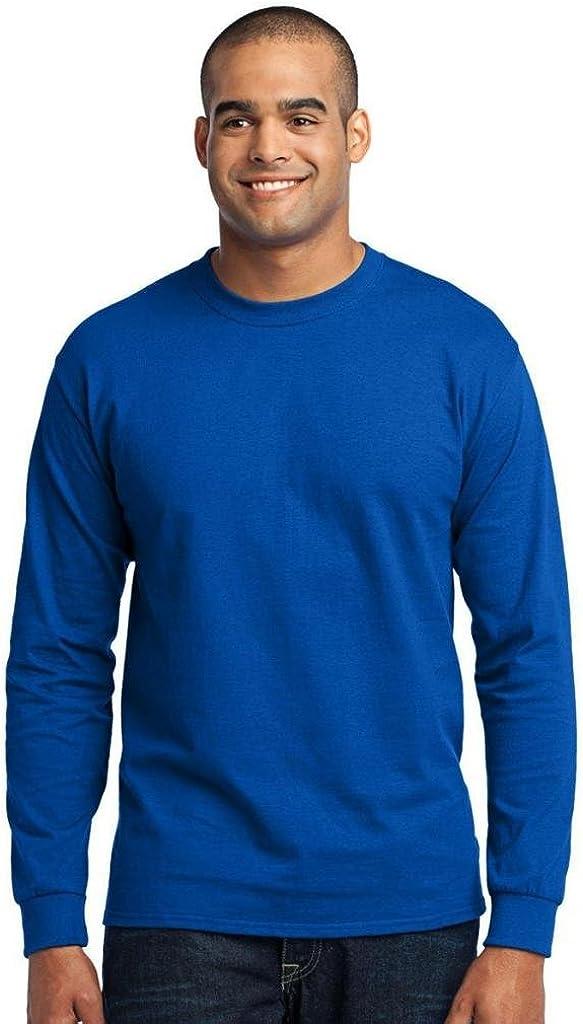 Port & Company Men's Tall Long Sleeve 50/50 Cotton/Poly T Shirt XLT Royal