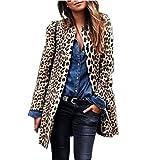 haoricu Women's Long Trench Coats Ladies Fashion Autumn Winter Jacket Leopard Sexy Warm Wind Coat Cardigan Outwear Brown