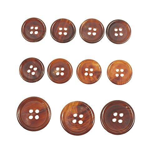 ByaHoGa 11 Pezzi Naturale Bottoni in Vero Corno 20 mm 15 mm Horn Pulsanti per Blazers Tuta Cappotto Invernale Cappotto Uniforme Vestito Abiti
