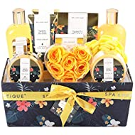 Gift Sets for Women-Spa Luxetique Spa Gift Set,12pcs Tahiti Island Bath Gift Set with Essential Oil,...