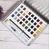 Herramienta de pintura Juego de pinturas de acuarela 12 colores nacarados Suministros de pintura Decoración del hogar Clase de arte(36 colors)