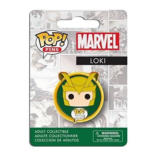 Funko- Marvel Comics Pop Pins Badge-Loki Distintivo, Multicolore, 7281