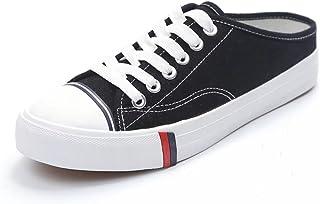【ユウエ】ズックシューズ レディース スニーカー ローカット レディースシューズ 婦人靴 カジュアル かかとなし 014-dkxh-y-279(38 ブラック )