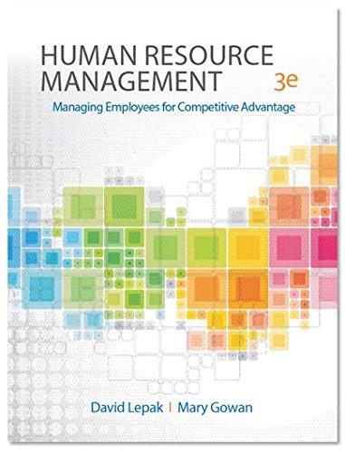 Human Resource Management, third edition