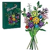 keeusmi bouquet fiori di costruzioni set progetto creativo, regalo di idea per adulti e collezione botanica (999 pezzi)