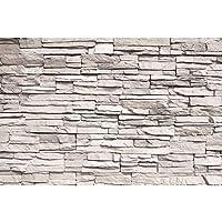 GREAT ART Mural De Pared – Muro De Piedra Blanca – Revestimiento De Paredes De Diseño Industrial, Muro De Piedra Natural Foto Papel Pintado Y Tapiz Y Decoración 210 x 140 cm