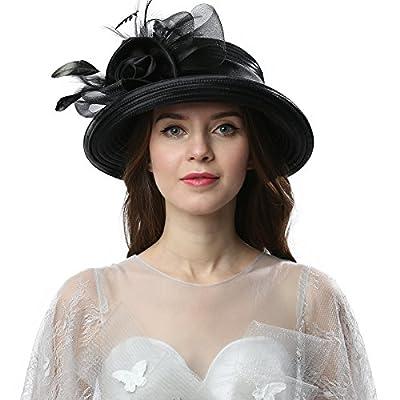 Janey&Rubbins Women Kentucky Derby Church Wedding Fascinators Cloche Bucket Bowler Hat